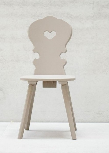 Stuhl VIENNA 2er SET Buche taupe lackiert Sonderpreis