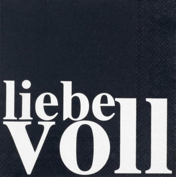 """Serviette """"Liebevoll"""" 33x33 cm"""