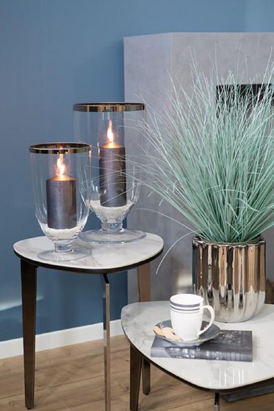 ELITE Windlicht & Vase mit Platinumrand
