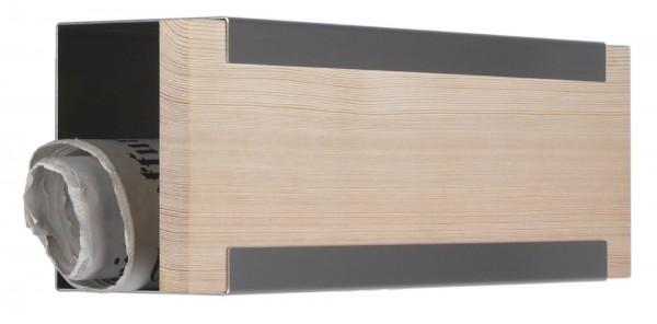 Zeitungsbox für Glasnost Briefkästen Holz Lärche