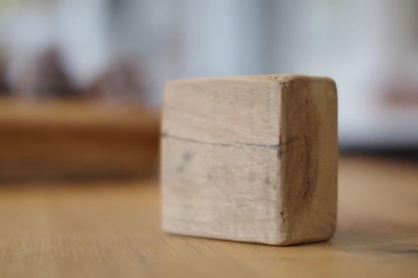 Holzplatte Teak ca. 10x10 cm