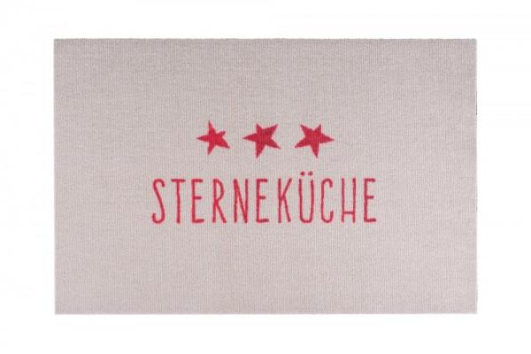 Fußmatte Sterneküche, Beige / Rot
