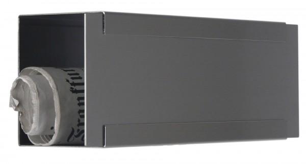 Zeitungsbox für Glasnost Briefkasten Edelstahl Metall
