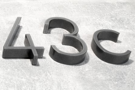 Hausnummer Aluminium (12 cm)