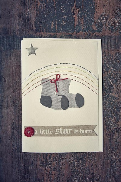 A little Star is born - Babykarte