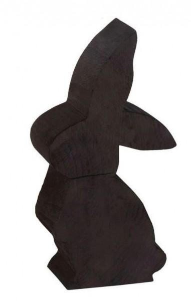 Holz Hase Pappel schwarz h 50cm