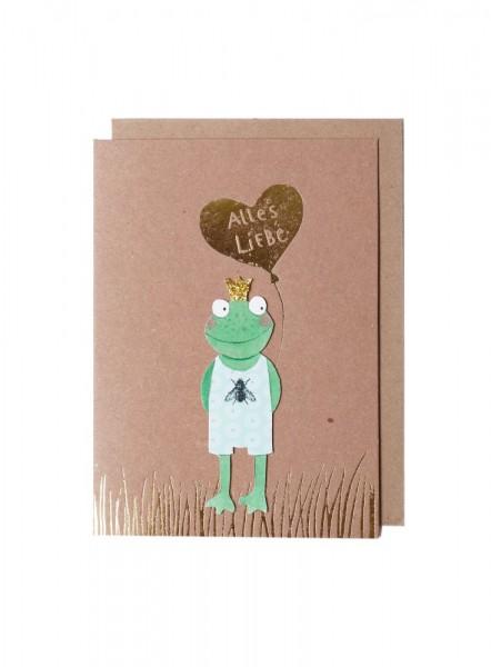 Geburtstagskarte Alles Liebe Frosch