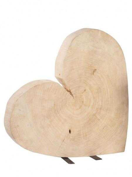 Herz aus Pappelholz 60x60 cm
