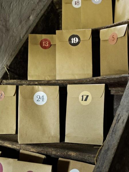 Adventskalender 24 Tüten + Zahlen