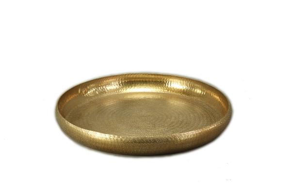 Tablett rund, Gold 53 cm