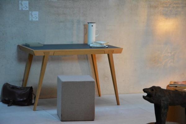 Schreibtisch Desk, eiche/schwarz