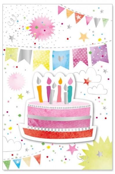 Geburtstagskarte - 3D Torte