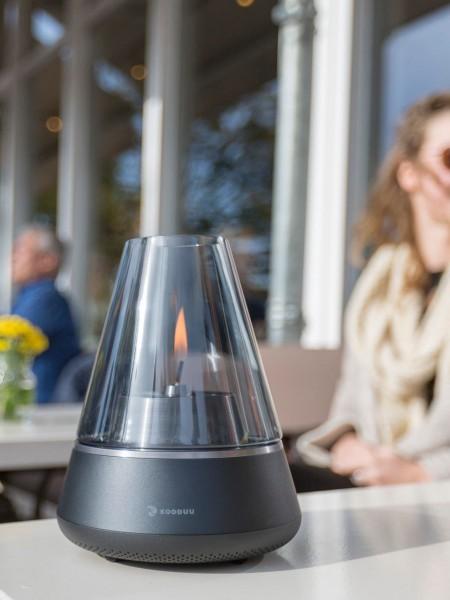 Nordic Light PRO - LED Windlicht mit Blueetoth Lautsprecher
