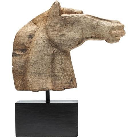 Horse Head - Deko Figur Natur