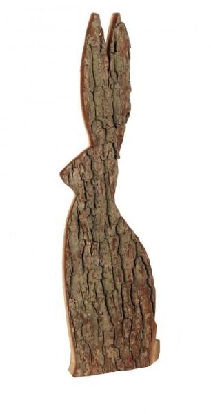 Holz Hase mit Rinde