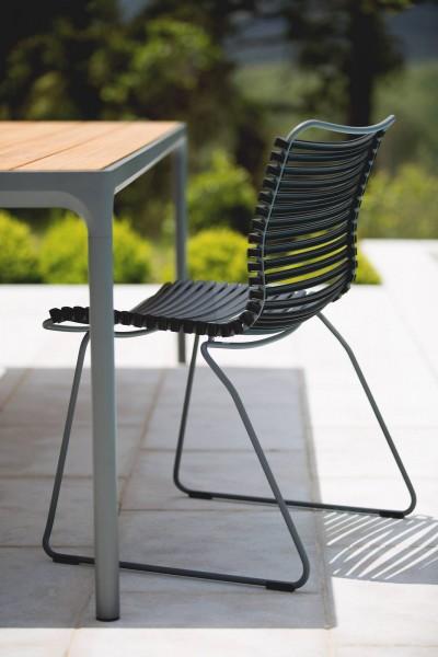 Outdoor Esstisch Four - graues Tischbein - Click