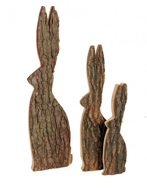 Deko Hase mit Baumrinde - extra Groß 70 und 90 cm