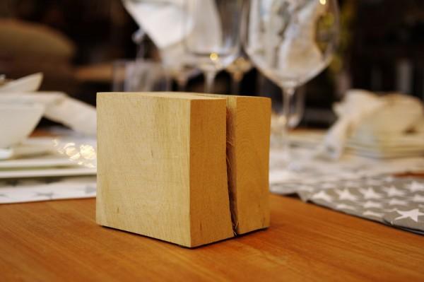 Holz-Würfel Eiche natur 10x10x10cm