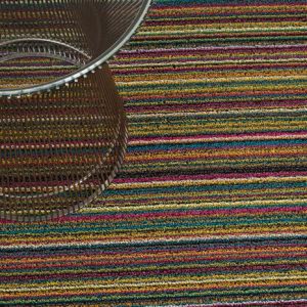 chilewich fu matte skinny stripe bright multi 46 x 71 cm. Black Bedroom Furniture Sets. Home Design Ideas